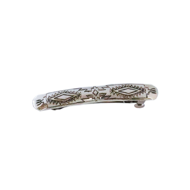 Haba Etched Sterling Silver Big Wind Barrette