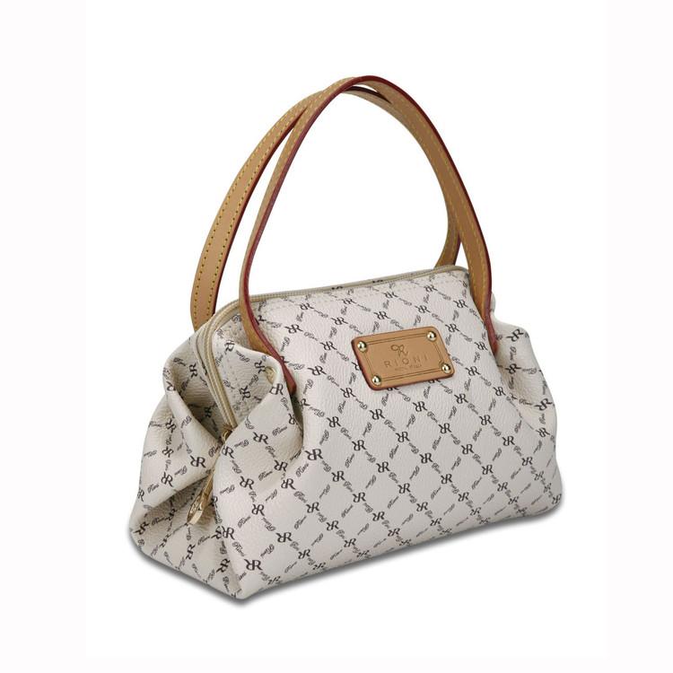 Rioni Natural Signature Petite Ruffle Pleat Handbag