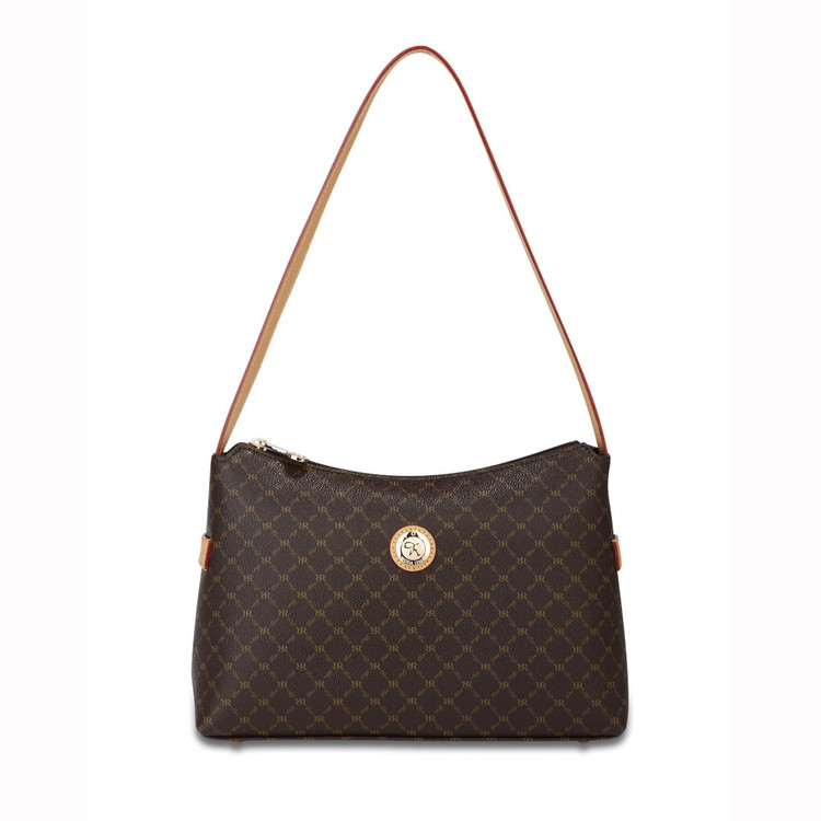 Rioni Brown Signature Classic Shoulder Bag