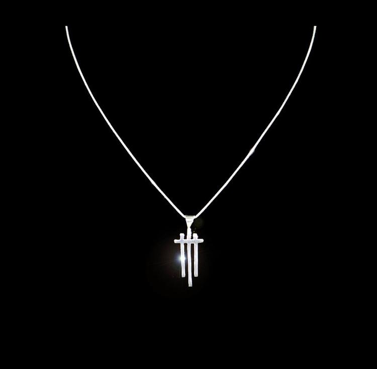 Aiyana Sterling Silver Easter Cross Pendant & Chain