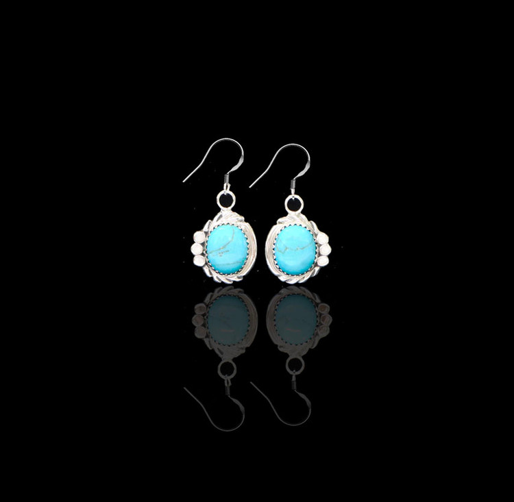 Luyu Turquoise & Sterling Silver Earrings