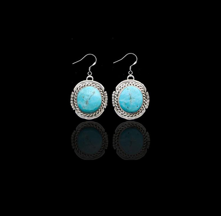 Lana Pilot Mountain Turquoise Earrings