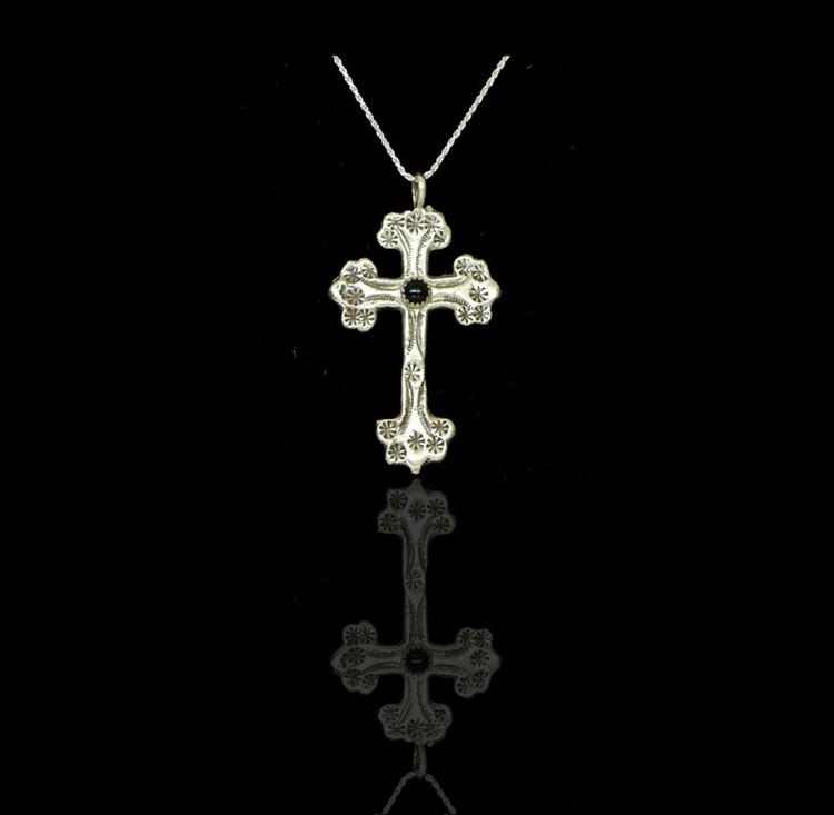 Copy of Luyu Lovington Onyx & Sterling Silver Cross