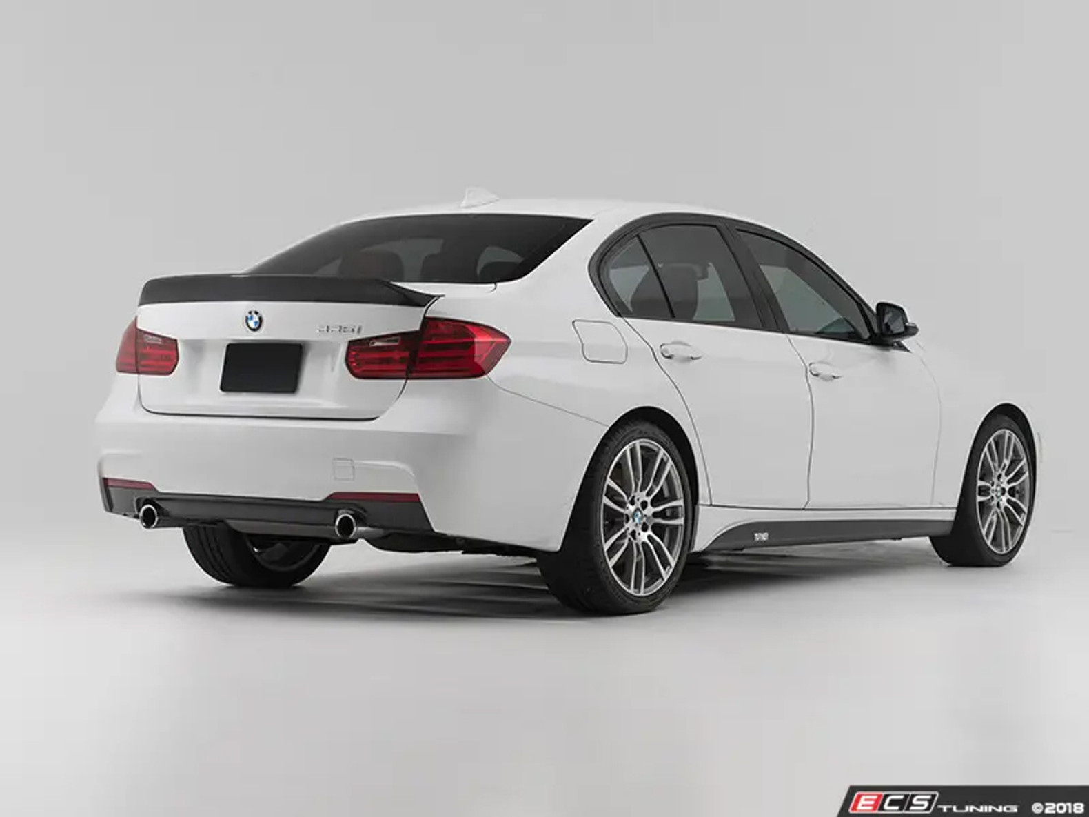 Unpainted For BMW F30 F80 Roof Wing High Kick  Performance Rear Trunk Spoiler