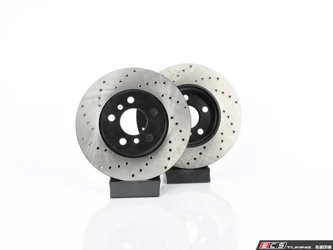 f2f5d9ebc44d2 ECS Tuning Front V4 Cross Drilled Discs - Pair 11.57