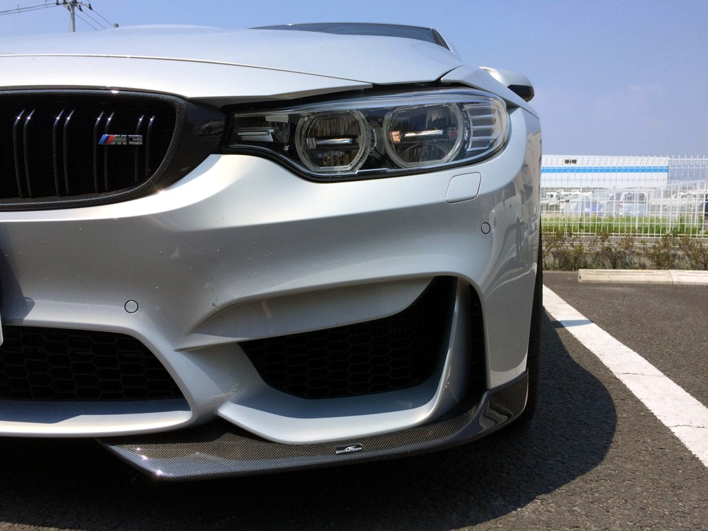 AC Schnitzer Carbon fibre front spoiler elements for BMW M3 (F80)