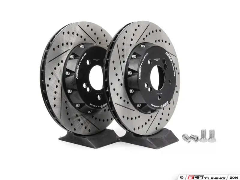 ECS Tuning 2-Piece Lightweight Rear Brake Rotors - Pair (350x24) - 1M / E9X