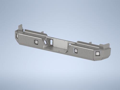 CAD Model, F250/F350 Rear Bumper, Bare Steel, 2017, 2018, 2019, 2020, 2021