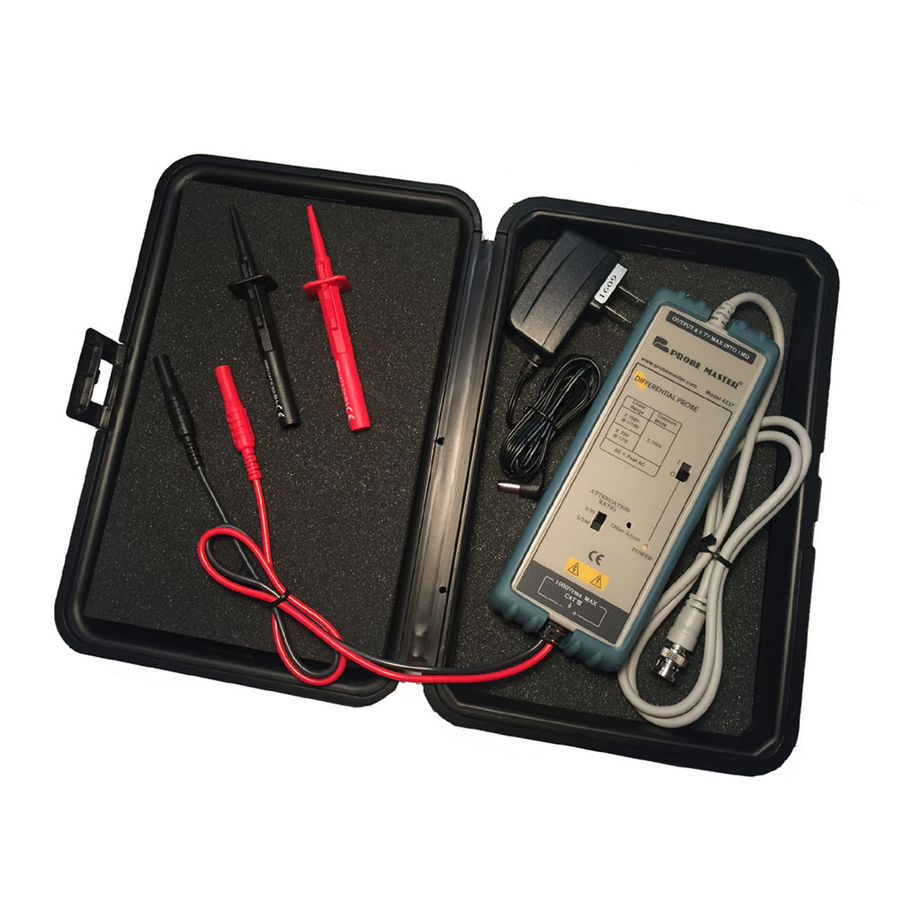 4237 Differential Probe 1:10/100, 1% Accuracy,70 MHz, 1400V,
