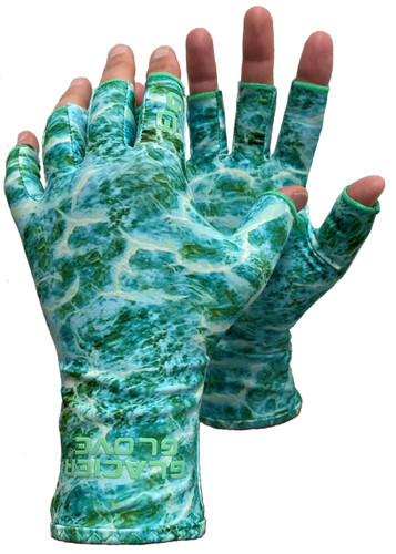 New! Abaco Bay Sun Glove - GREEN WATER CAMO UPF 50+ Sun Protection Fishing Sun Protection