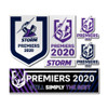 Melbourne Storm 2020 Premiers Giant Decals (6 Pack)