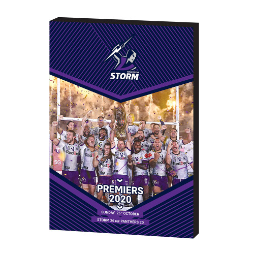 Melbourne Storm 2020 Premiers Wooden Plaque
