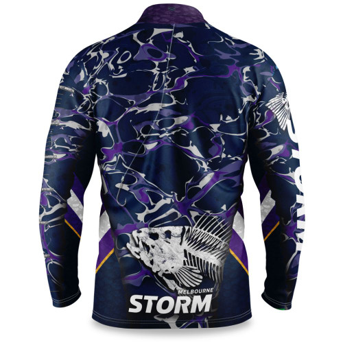 Melbourne Storm 2021 Mens Fishing Shirt Skeletor