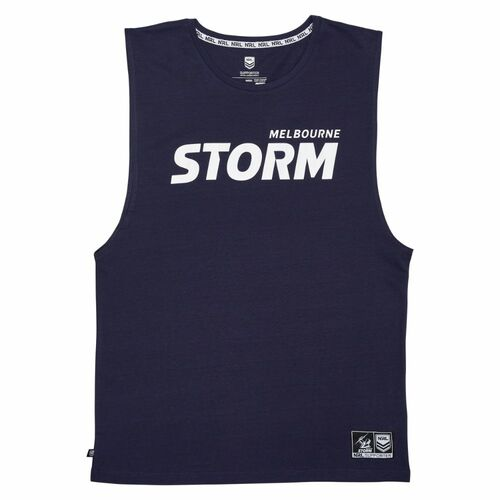 Melbourne Storm 2021 Outerstuff Mens Wordmark Muscle Tee