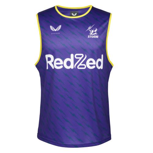 Melbourne Storm 2021 Castore Mens Training Singlet Purple