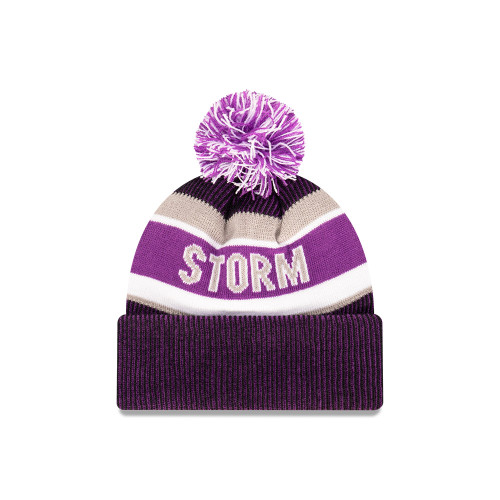 Melbourne Storm New Era 6Dart Core Pom Knit Beanie