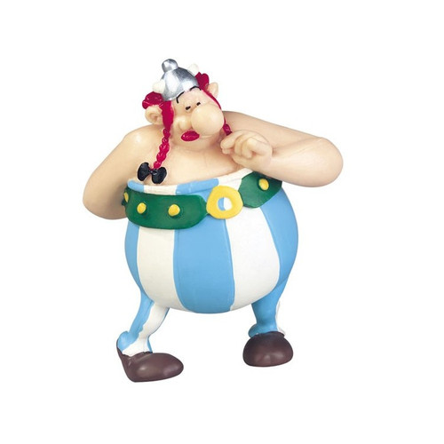 ASTERIX FIGURE OBELIX WITH FLOWERS FIGURE