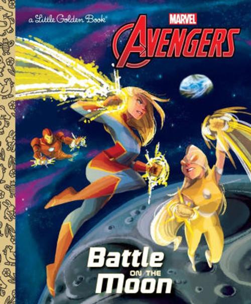 AVENGERS BATTLE ON THE MOON LITTLE GOLDEN BOOK