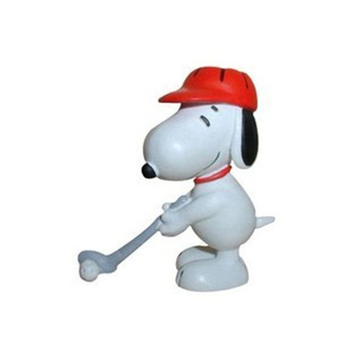 PEANUTS FIGURE SNOOPY GOLF RED HAT