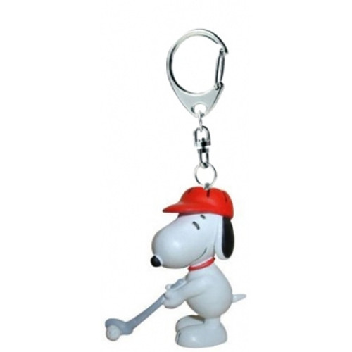 PEANUTS KEYRING SNOOPY GOLF RED HAT