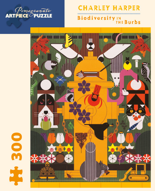 CHARLEY HARPER BIODIVERSITY IN THE BURBS 300 PIECE PUZZLE