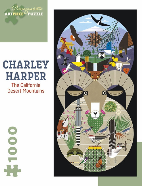 CHARLEY HARPER CALIFORNIA DESERT MOUNTAINS 1000 PIECE PUZZLE