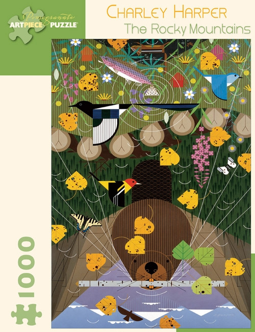 CHARLEY HARPER ROCKY MOUNTAINS 1000 PIECE PUZZLE