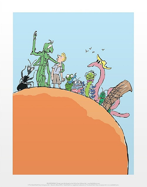 JAMES AND THE GIANT PEACH PRINT BY QUENTIN BLAKE