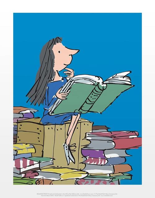 MATILDA READING PRINT BY QUENTIN BLAKE