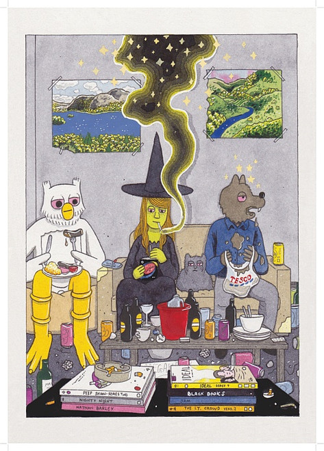 MEGG AND MOGG IN LONDON PRINT BY SIMON HANSELMANN