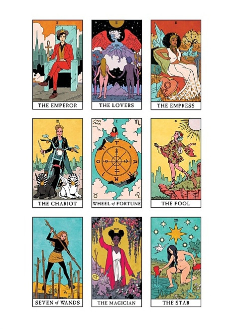 MODERN WITCH TAROT PRINT BY LISA STERLE