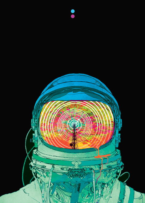 SPACEMAN PRINT BY CHRISTIAN WARD