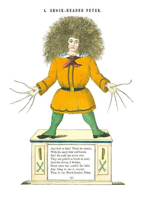 STRUWWELPETER SHOCK-HEADED PETER PRINT