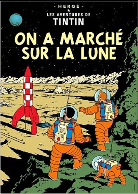 TINTIN ON A MARCHE PRINT