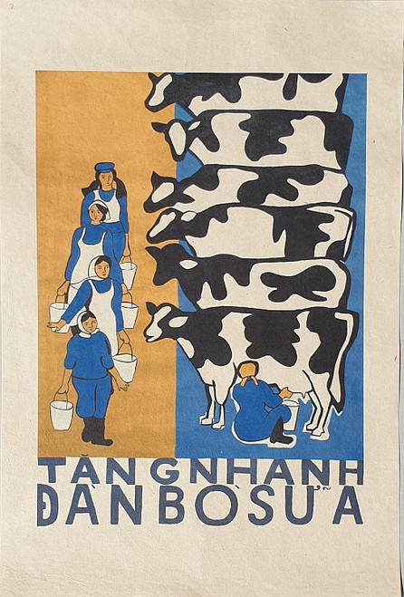 VIETNAMESE PROPAGANDA PRINT RAPIDLY DEVELOPING THE HERD OF MILK COWS
