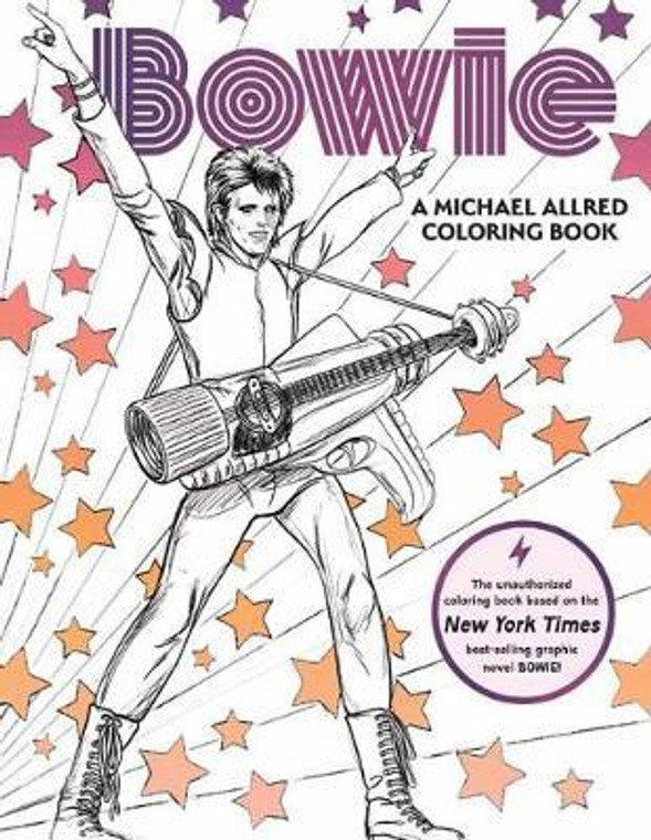 BOWIE A MICHAEL ALLRED COLORING BOOK