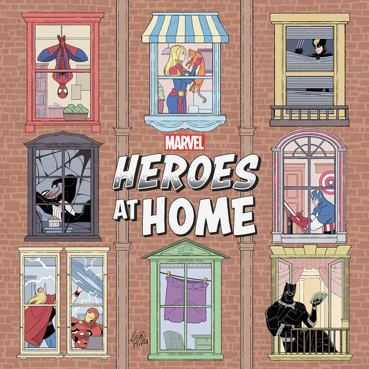 RECYCLED - MARVEL HEROES AT HOME POCKET GN