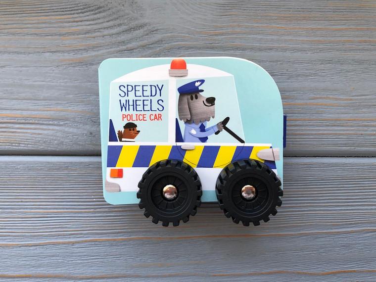 SPEEDY WHEELS POLICE CAR BOARD BOOK