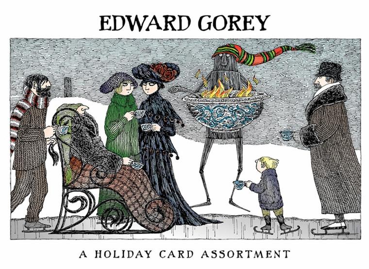 EDWARD GOREY HOLIDAY CARDS