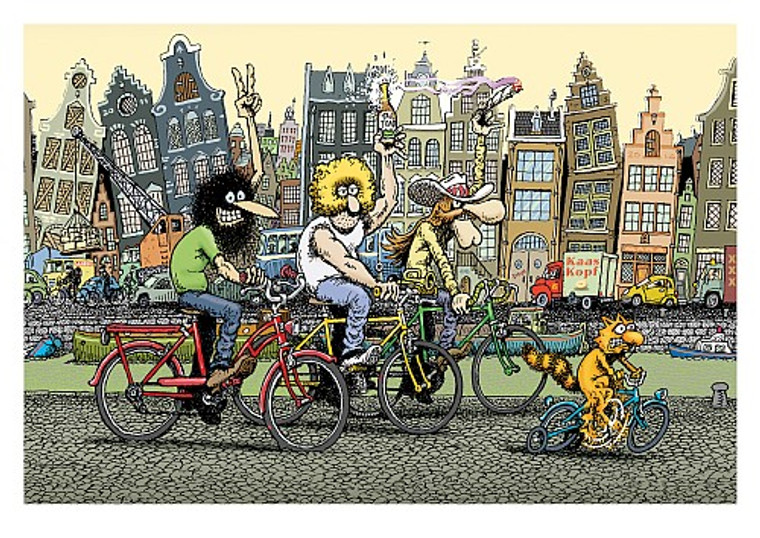 FABULOUS FURRY FREAK BROTHERS PRINT BY GILBERT SHELTON