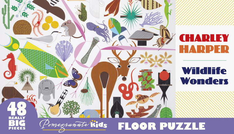 CHARLEY HARPER WILDLIFE WONDERS 48 PIECE FLOOR PUZZLE