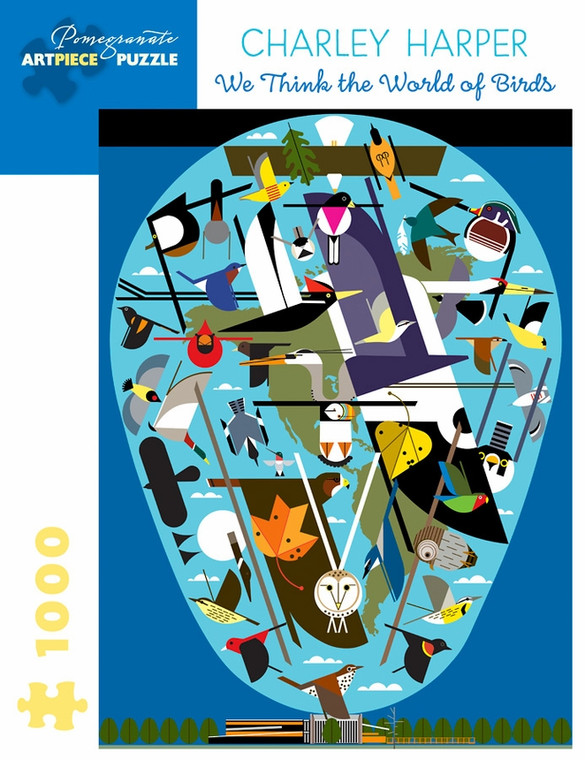 CHARLEY HARPER WE THINK THE WORLD OF BIRDS 1000 PIECE PUZZLE
