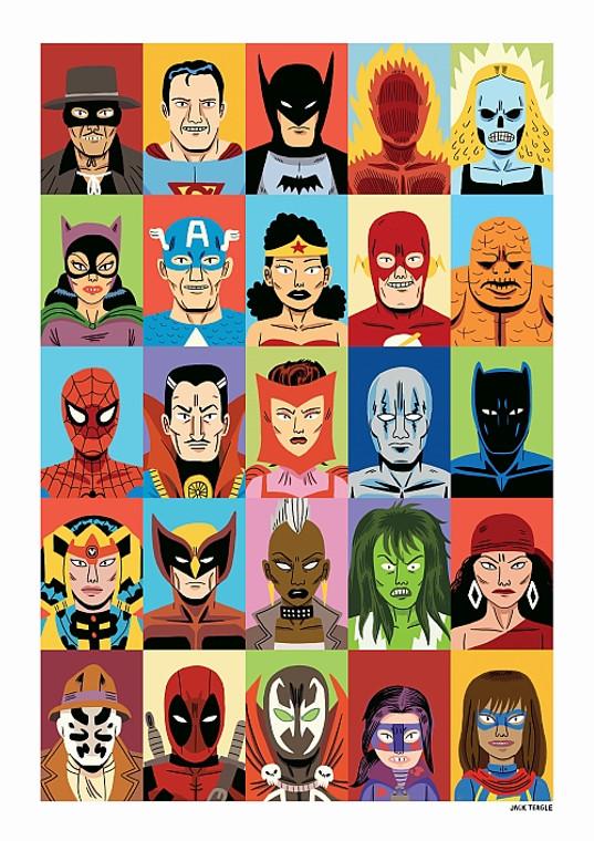 HEROES PRINT BY JACK TEAGLE