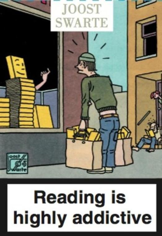 JOOST SWARTE READING POSTCARDS