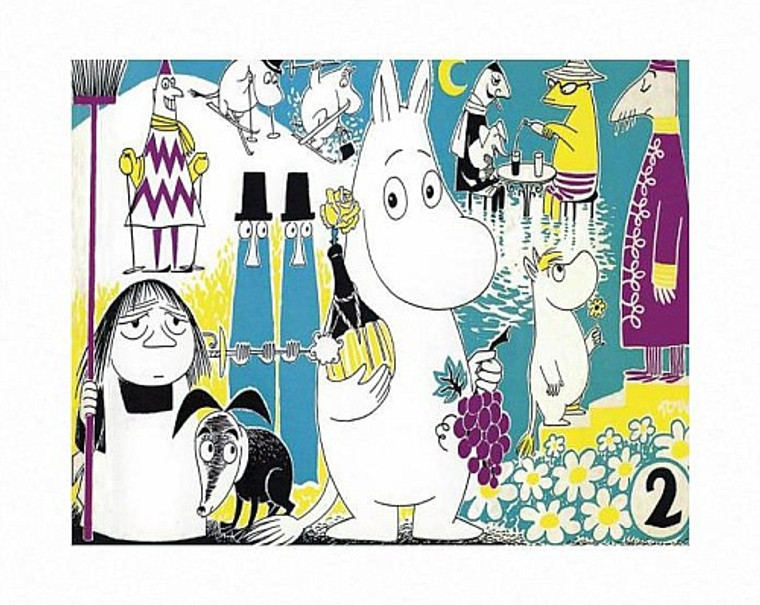MOOMIN COMIC COVER 2 PRINT BY TOVE JANSSON