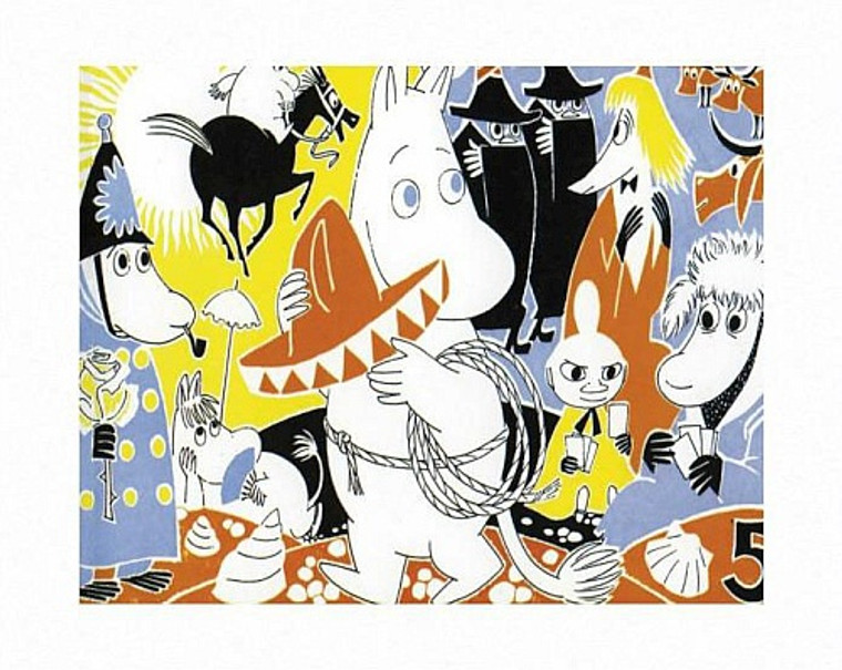 MOOMIN COMIC COVER 5 PRINT BY TOVE JANSSON