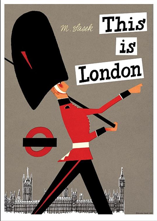 THIS IS LONDON PRINT BY MIROSLAV SASEK