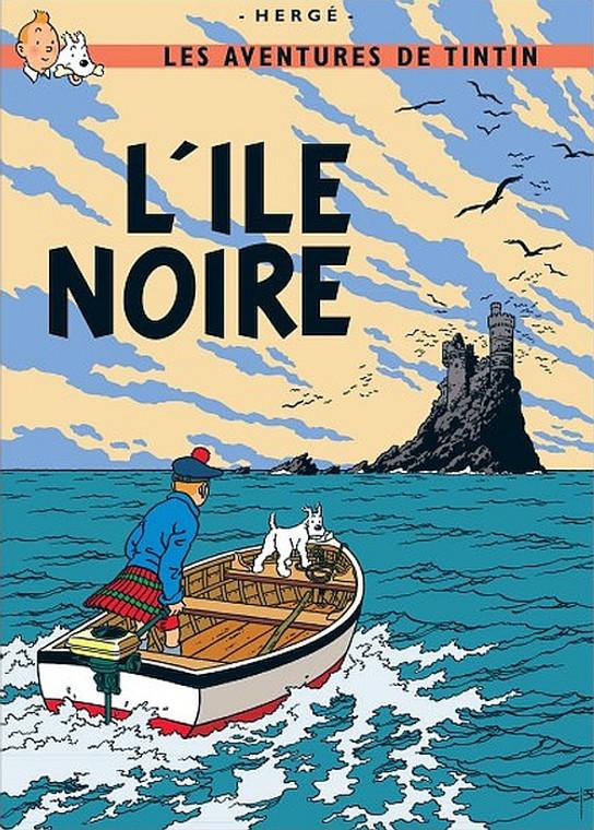 TINTIN L'ILE NOIRE PRINT
