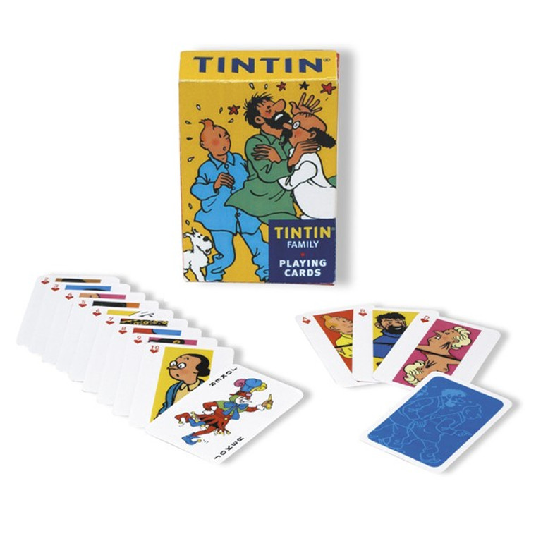 TINTIN FAMILY PLAYING CARDS