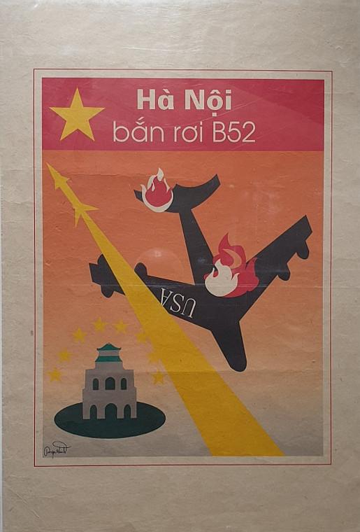 VIETNAMESE PROPAGANDA PRINT HANO IS THE PLACE WHERE AMERICAN AIRCRAFT ARE SHOT DOWN